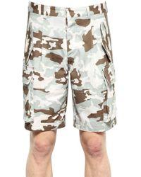 Givenchy Cotton Gabardine Cargo Shorts - Gray