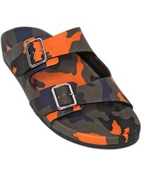 Givenchy Camouflage Leather Sandals - Lyst