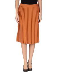 Guess Knee Length Skirt - Lyst