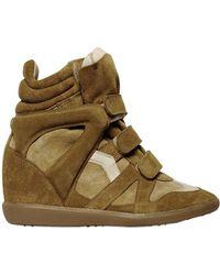 Isabel Marant 80mm Bekett Suede High Sneakers - Lyst