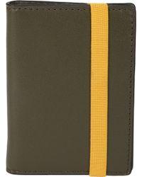 Jack Spade - Elastic Leather Vertical Flap Wallet - Lyst
