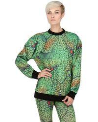 Jeremy Scott Monster Print Techno Fleece Sweatshirt - Lyst