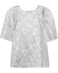 Lulu & Co Metallic Brocade Top - Lyst