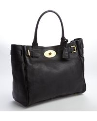 Mulberry Black Buffalo Leather 'Bayswater' Tote - Lyst