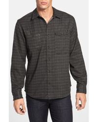 Ourcaste The Taylor Plaid Flannel Shirt - Lyst
