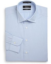 Saks Fifth Avenue Black Label - Slim-fit Pinstriped Cotton Button-front Shirt - Lyst
