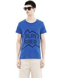 Acne Studios Standard Print Klein Blue - Lyst