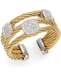Charriol | Diamond Triple Cable Ring | Lyst