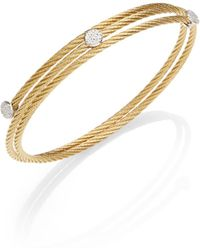 Charriol - Pavé Diamond Station Cable Wrap Bracelet - Lyst