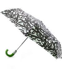 Kate Spade Literary Glasses Travel Umbrella - White
