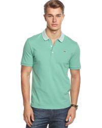 Lacoste Short Sleeve Pique Stripe Polo Shirt - Lyst