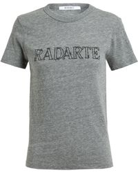 Rodarte Barbed Wire Radarte Printed T-shirt - Lyst
