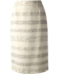 Andrea Incontri Printed Pencil Skirt - Lyst