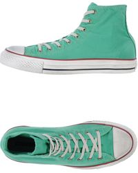 Converse Hightop Trainers - Lyst