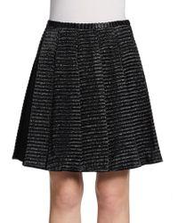 Jill Stuart Textured Striped Skirt - Lyst