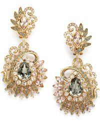 Judith Leiber - Lulu Crystal Cluster Earrings - Lyst