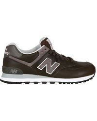 New Balance 574 Leather Sneakers - Lyst