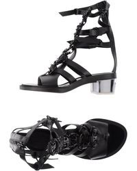Paco Rabanne Highheeled Sandals - Black