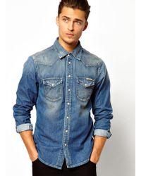 be2e0d5a61e475 Pepe Jeans - Pepe Denim Shirt Carson Mid Wash - Lyst