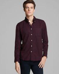 Steven Alan Classic Collegiate Bowtie Print Sport Shirt Slim Fit - Lyst