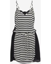 Mason by Michelle Mason Contrast Stripe Cami Dress - Lyst