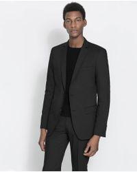 Zara Black Basic Blazer - Lyst
