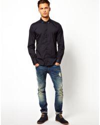 Diesel Shirt Sheath Denim Collar and Cuff - Lyst