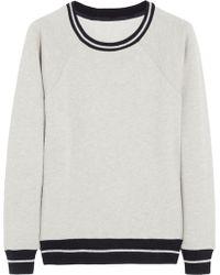 J.Crew | Tipped Cotton jersey Sweatshirt | Lyst