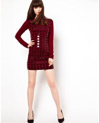 Markus Lupfer Oversized Sequin Knit Dress - Lyst