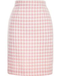 Chanel Chanel Pink and White Boucle Skirt From What Goes Around Comes Around - Lyst