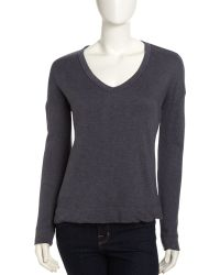 James Perse Wide V-Neck Pullover - Lyst
