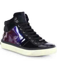 Jimmy Choo Belgravi Hologram High-Top Sneakers - Lyst