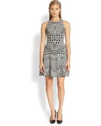 McQ by Alexander McQueen Houndstooth-print Dress - Lyst