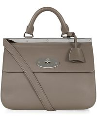 Mulberry Small Suffolk Classic Calf Tote - Lyst
