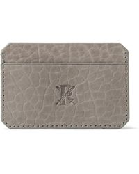 Parabellum - Embossed Fullgrain Leather Card Holder - Lyst