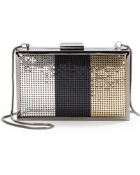 Saks Fifth Avenue Black Label - Janet Colorblock Mesh Box Minaudiere - Lyst