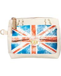 Thursday Friday - Uk Flag Here Pochette Cosmetic Bag - Lyst