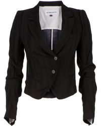 Ann Demeulemeester Blanche - Striped Cropped Jacket - Lyst