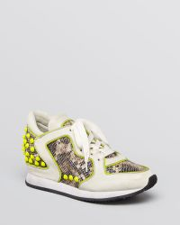 Ash Lace Up Wedge Trainers Delire Bis Jogger - Yellow