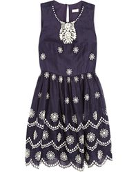 Collette by Collette Dinnigan - Daisy Dots Broderie Anglaise Voile Dress - Lyst