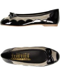 F-Troupe - Two-Toned Patent-Leather Ballet Flats - Lyst