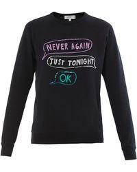 Lulu & Co | Sequin Embroidered Sweatshirt | Lyst