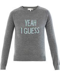 Lulu & Co | Yeah I Guess Intarsia Merino Sweater | Lyst