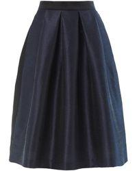 Lulu & Co - Dupion Pleated Skirt - Lyst