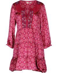 Odd Molly Short Dress red - Lyst