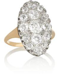 Olivia Collings 18karat Rose Gold Diamond Ring - Metallic