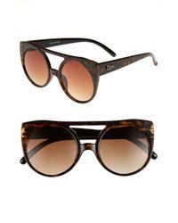 Quay 55mm Leopard Cats Eye Sunglasses - Lyst