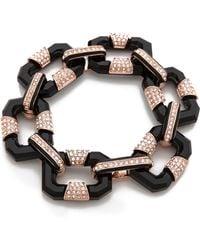 Rachel Zoe Small Lucite Link Bracelet - Black