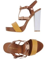 Tommy Hilfiger Platform Sandals - Brown