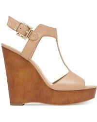 Vince Camuto Mathis T-Strap Platform Wedge Sandals - Lyst
